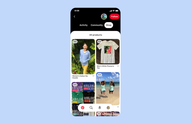 Pinterest's new app on the Shopify platform aims to make it easy to upload catalogs and create shoppable pins on the social bookmarking service.