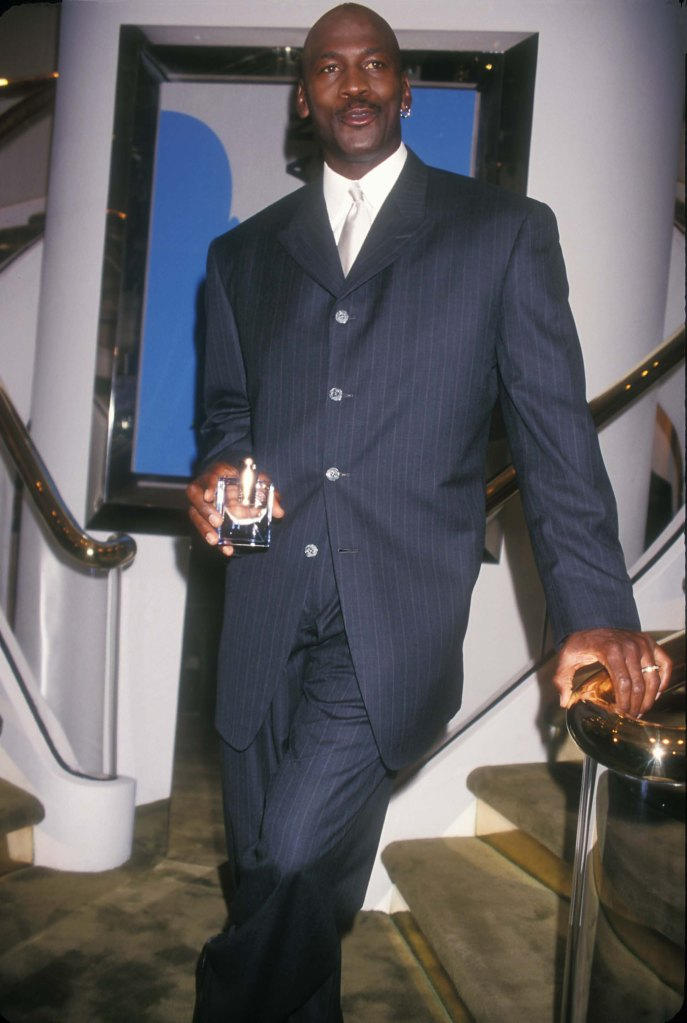 Michael Jordan at the Launch His New Fragrance 'Jordan' at Bijan Store in New York City 10-22-1999Michael Jordan 1999