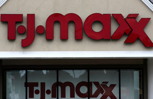 TJ Maxx logo on a store