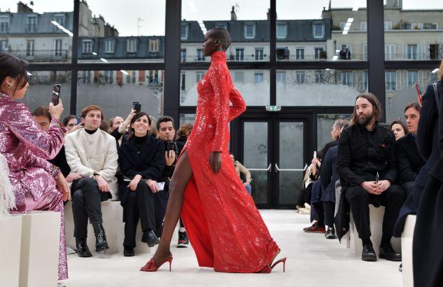 Adut Akech on the catwalkValentino show, Runway, Fall Winter 2020, Paris Fashion Week, France - 01 Mar 2020