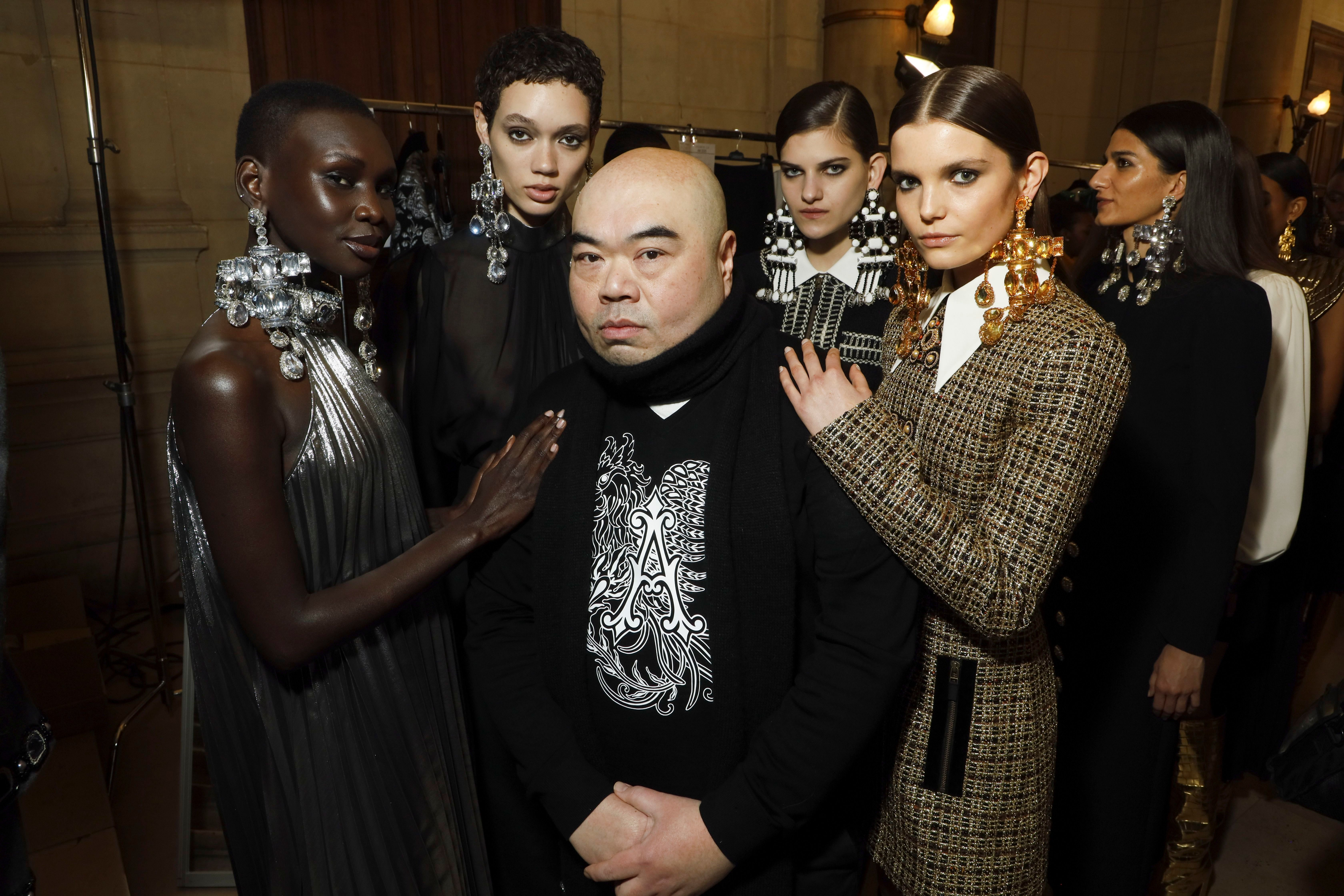 Andrew Gn and models backstageAndrew Gn show, Backstage, Fall Winter 2020, Paris Fashion Week, France - 28 Feb 2020