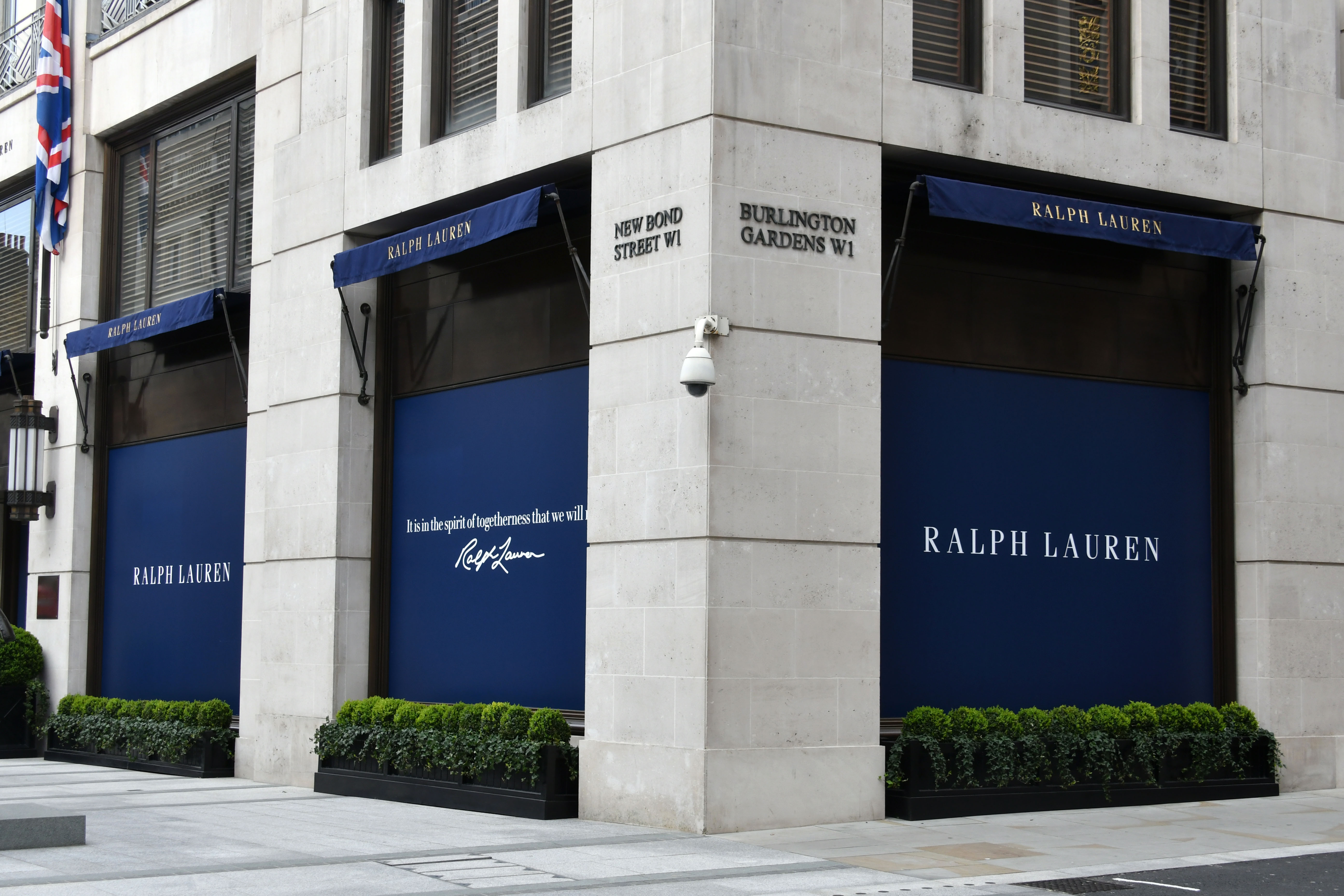 Ralph Lauren boarded up store front