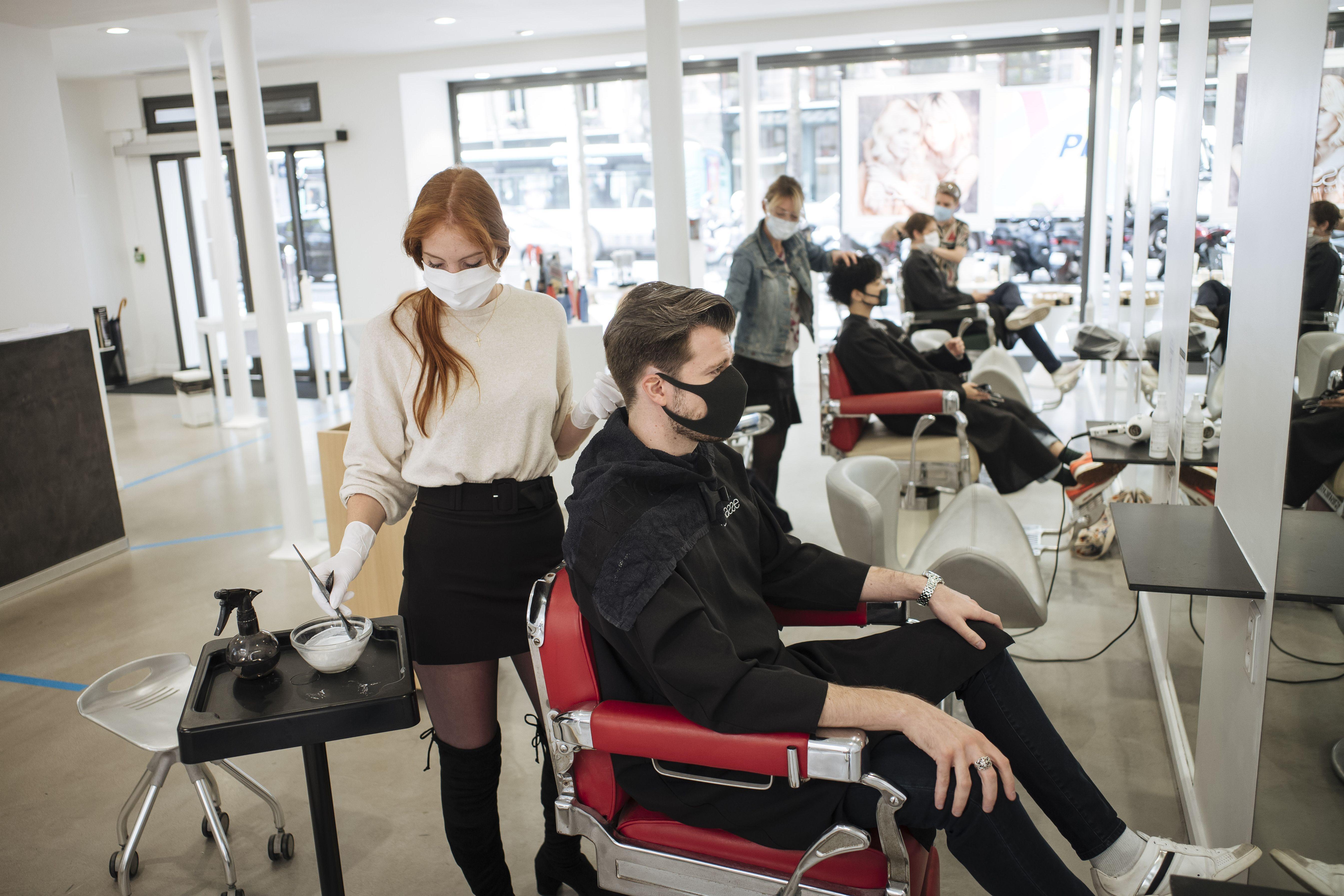 A hair salon in Paris.
