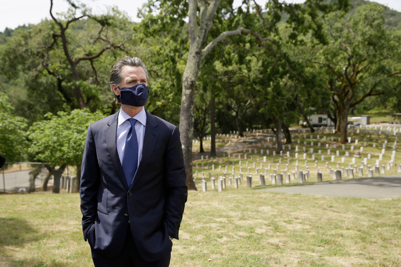 California Governor Gavin Newsom Memorial Day 2020 coronavirus