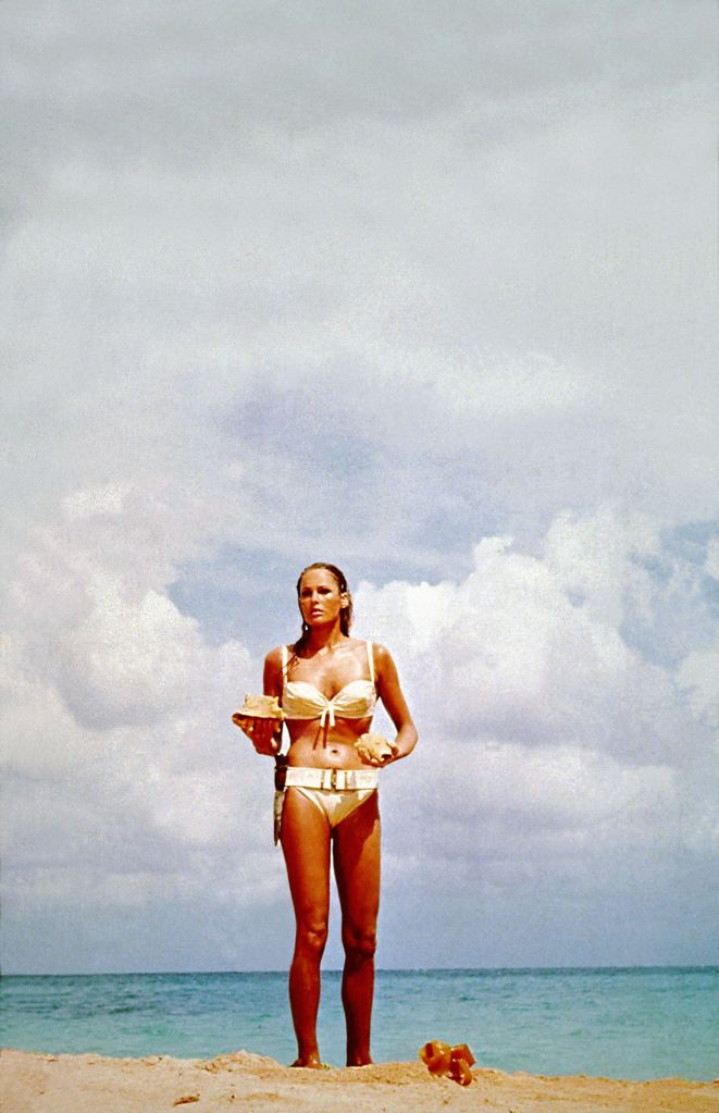 Editorial use only. No book cover usage.Mandatory Credit: Photo by Moviestore/Shutterstock (1541198a)Dr No (James Bond), Ursula AndressFilm and Television