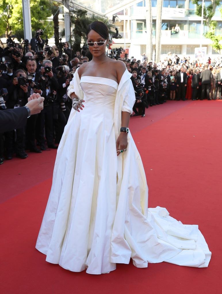 Singer Rihanna poses for photographers upon arrival at the screening of the film Okja at the 70th international film festival, Cannes, southern France2017 Okja Red Carpet, Cannes, France - 19 May 2017