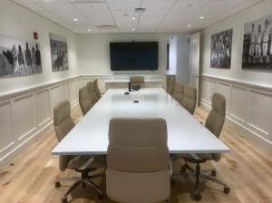 U.S. Polo Assn's conference room will have social distancing.