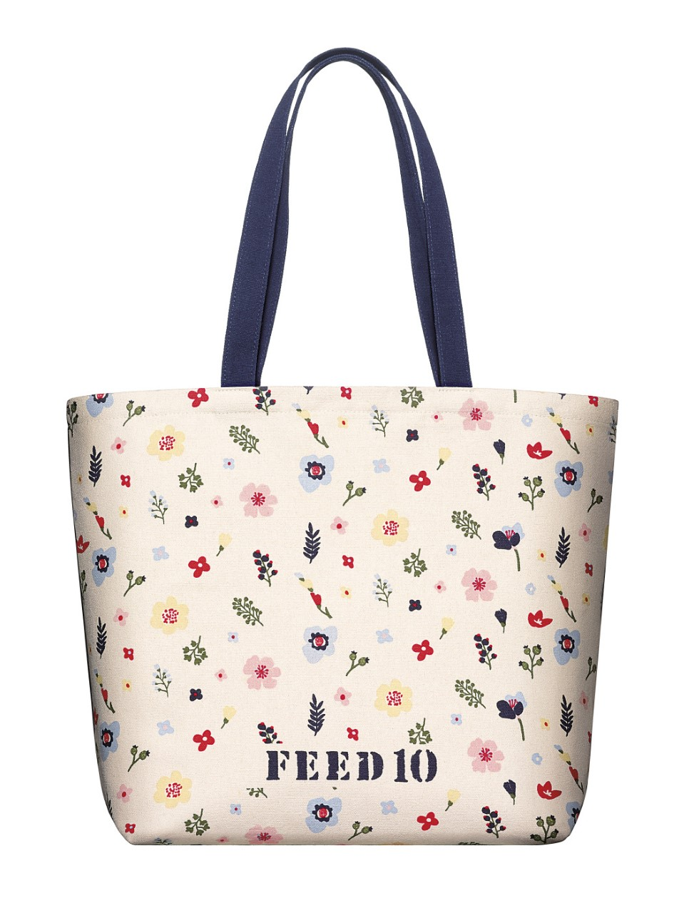The FEED 10 tote will be offered at macys.com filled with Clarins beauty products.