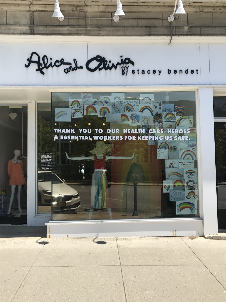 Alice + Olivia was open for business.