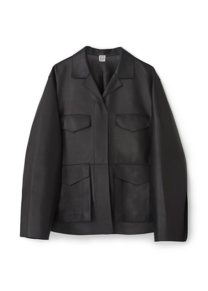Totême's Avignon leather jacket