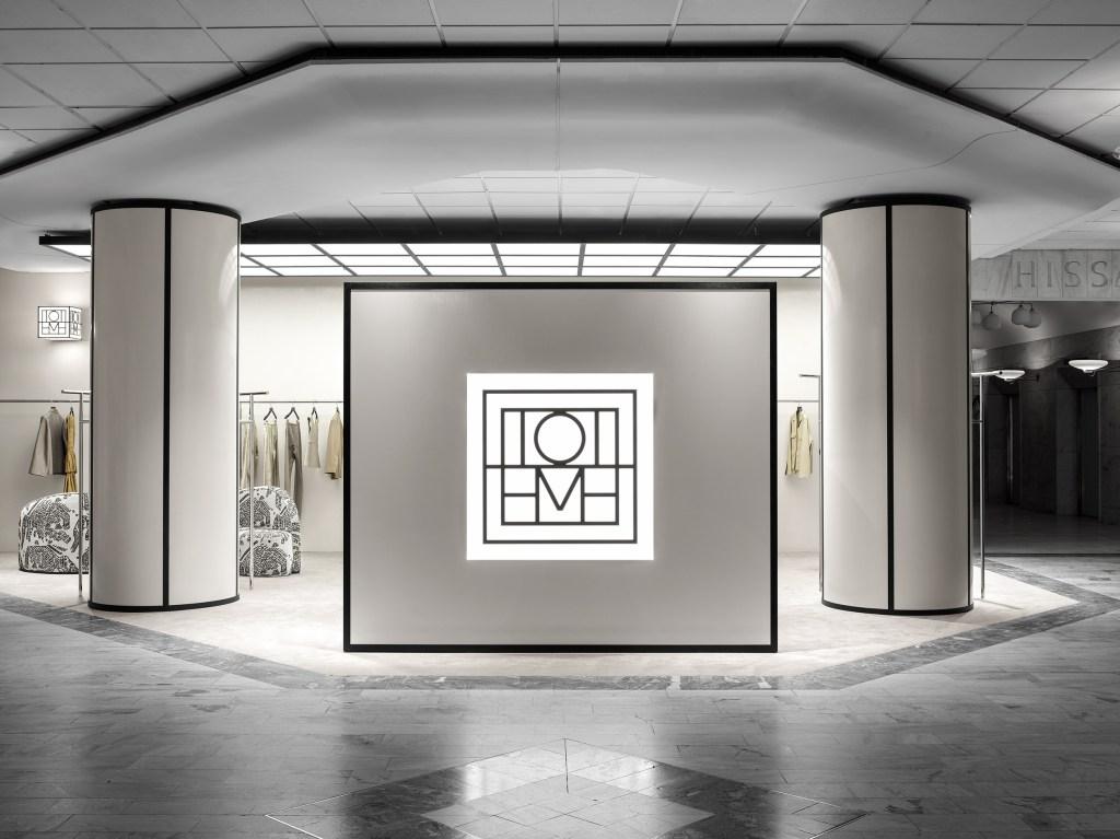 Totême's store inside the Nordiska Kompaniet department store in Stockholm