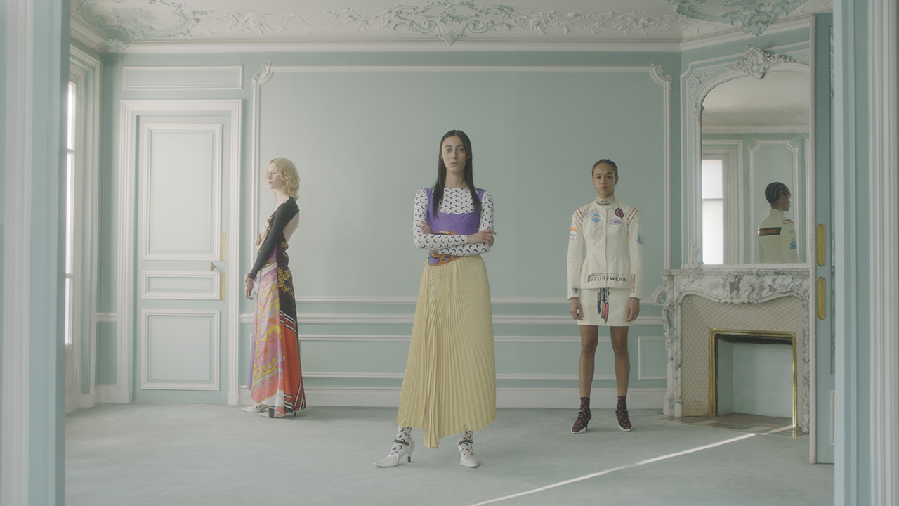 A still from film UNTITLED, by Laurent Amiel for Marine Serre, winner of 2019 Milan Fashion Film Festival Best New Designer Brand
