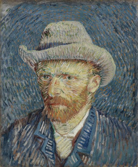 "Vincent Van Gogh, ""Self Portrait with Grey Felt Hat,"" 1887"