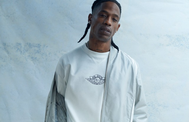 Travis Scott wearing the Air Dior collection.