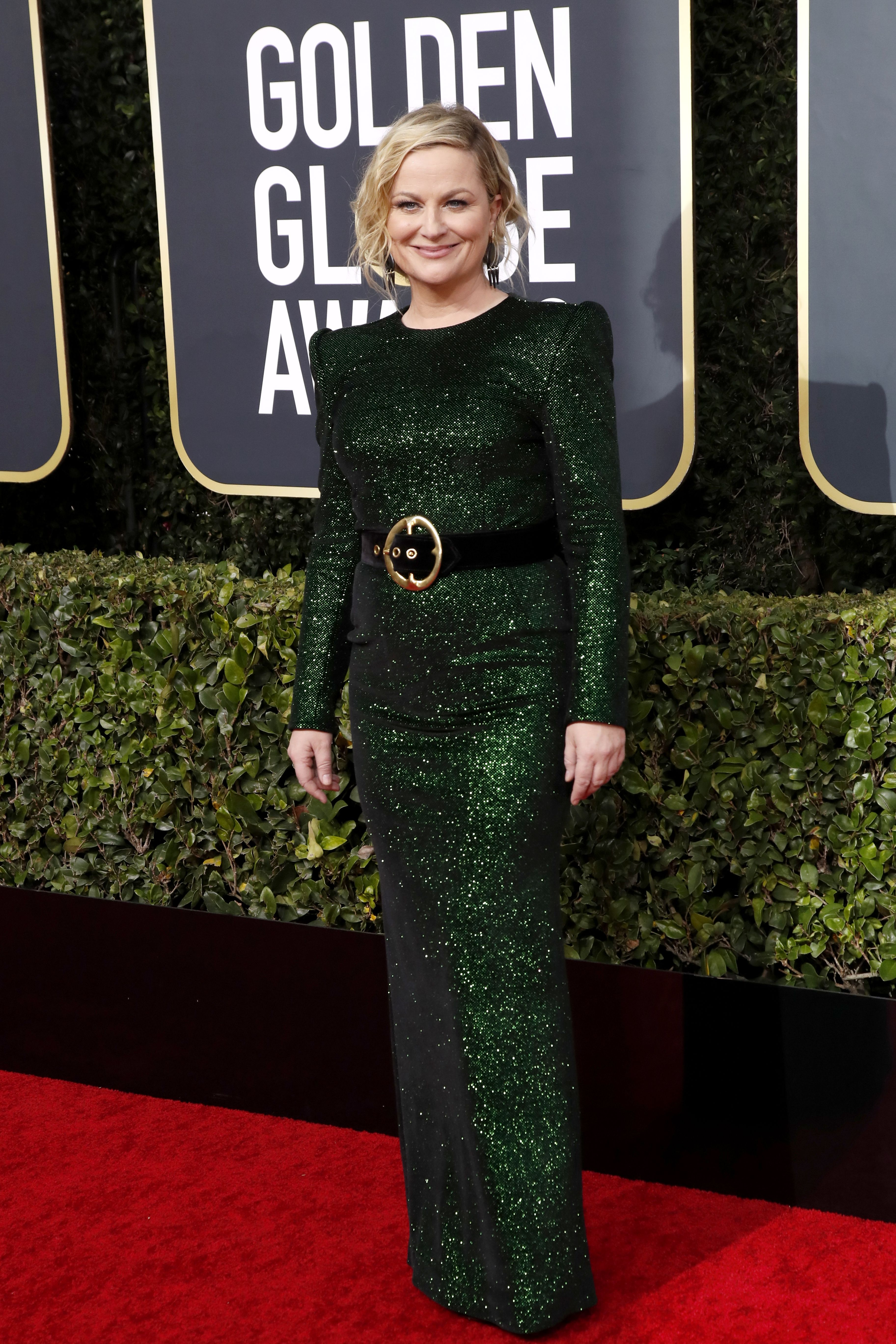 Amy Poehler arrives for the 77th annual Golden Globe Awards ceremony at the Beverly Hilton Hotel, in Beverly Hills, California, USA, 05 January 2020.Arrivals - 77th Golden Globe Awards, Beverly Hills, USA - 05 Jan 2020