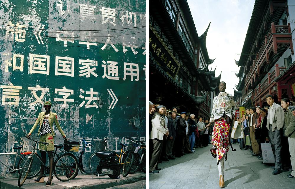 Ajak Deng on the street in Shanghai