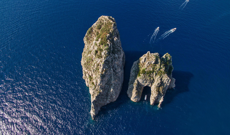 The Faraglioni rocks off the coast of Capri.