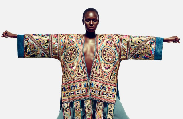 Ajak Deng posed for a Numéro China editorial shoot.