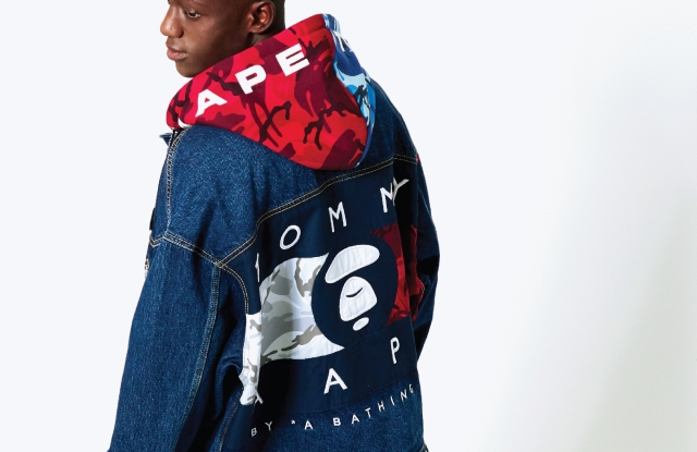 A look from the Tommy Jeans collaboration with A Bathing Ape.