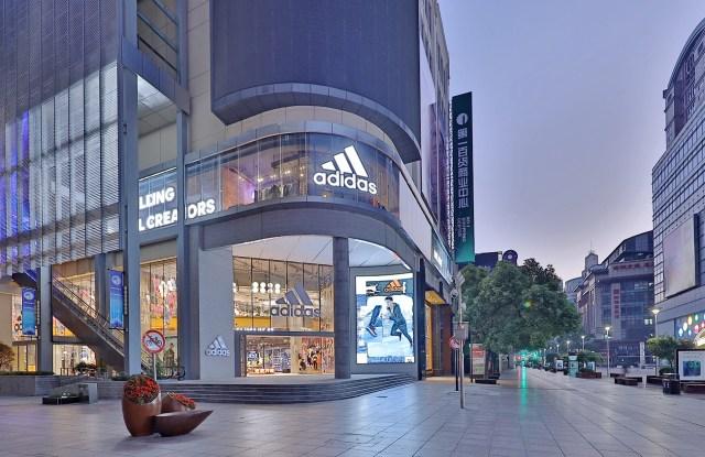 Adidas' flagship store in Shanghai, China.