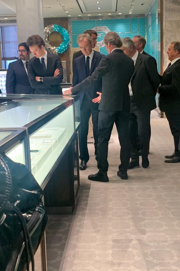 Bernard Arnault Pays Visit to Tiffany & Co. Flagship