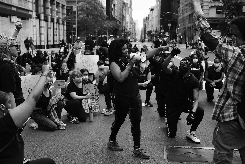 Black Lives Matter protest in New York City.