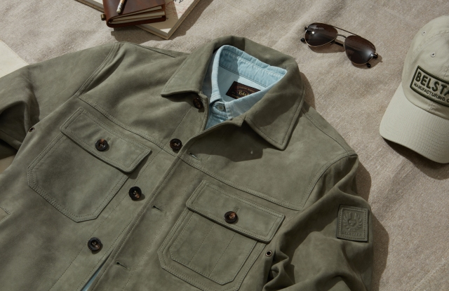 A look from Belstaff's new summer capsule collection.