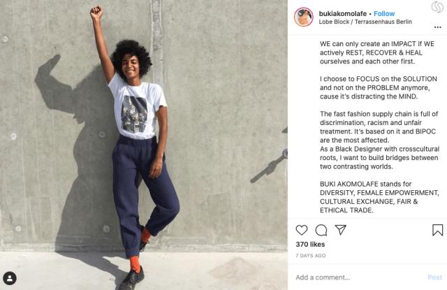 Instagram post of Buki Akomolafe