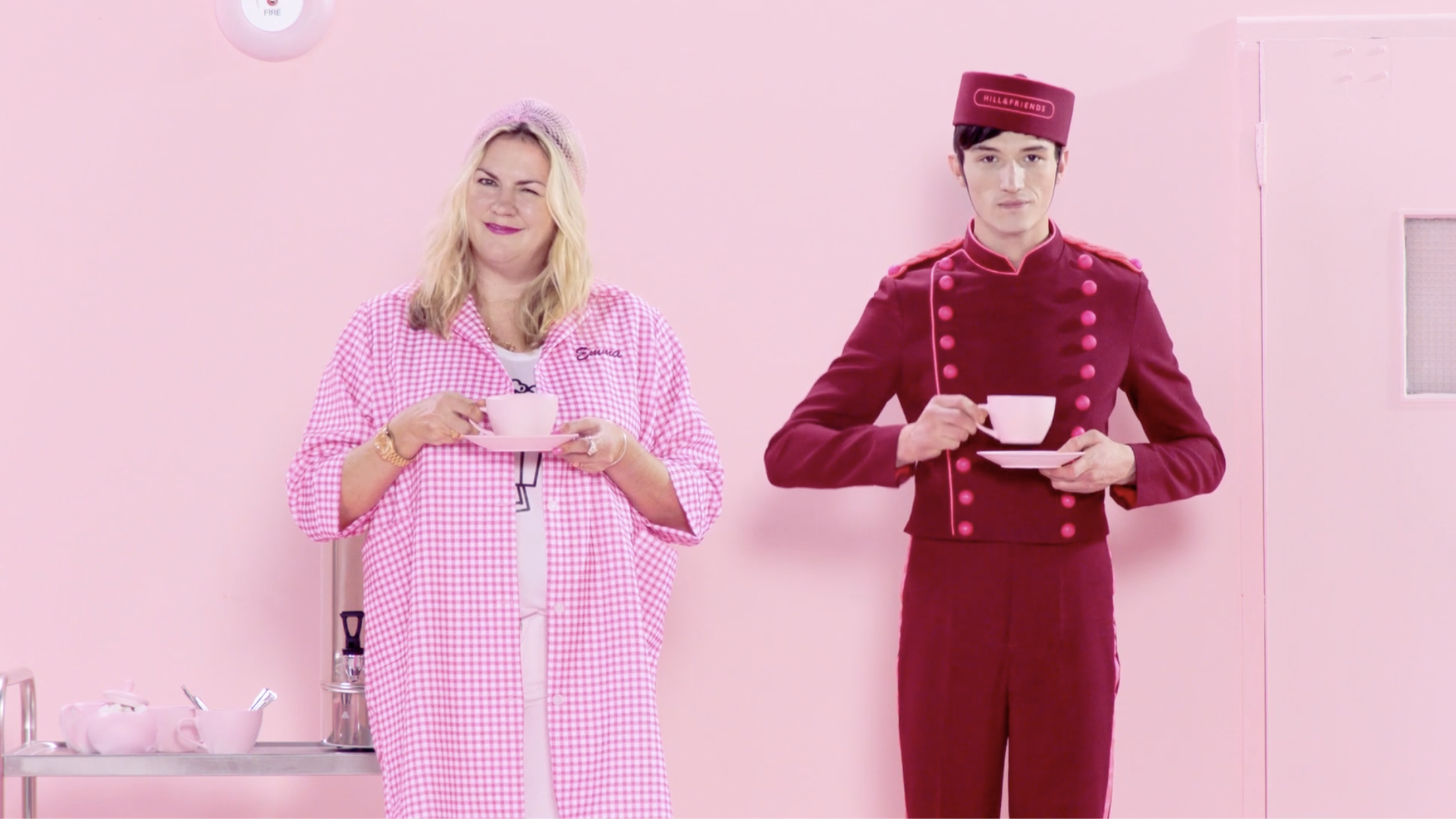 """Still image from Hill and Friends' short film """"happy factory from home."""""""