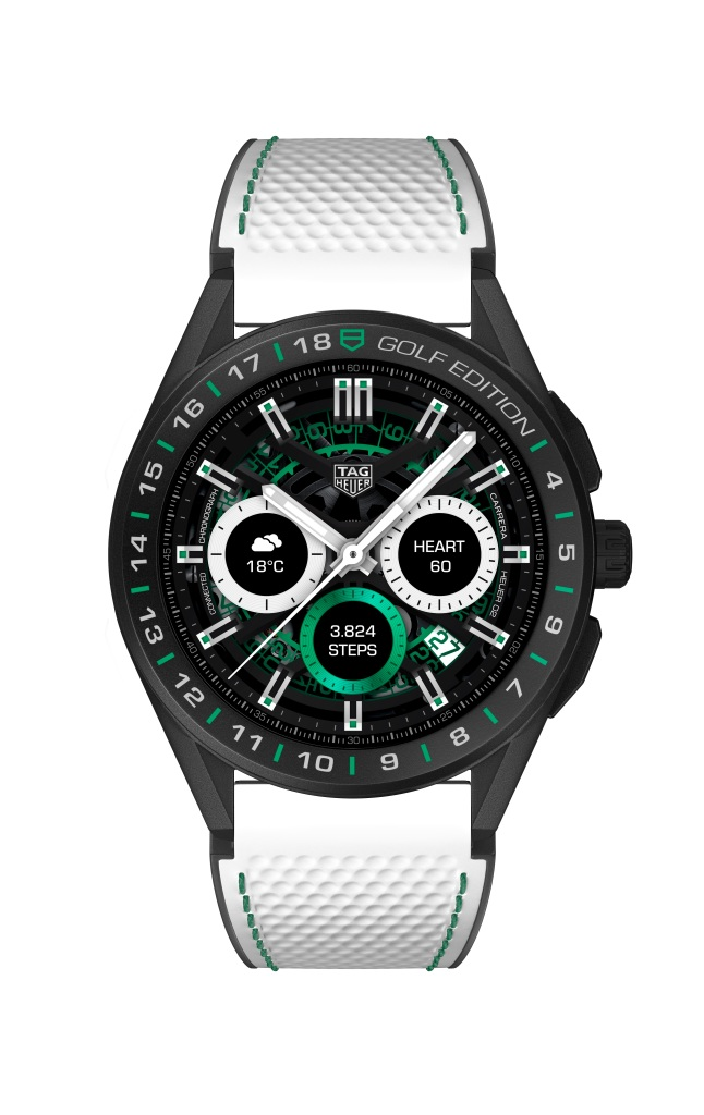Tag Heuer connected golf watch.