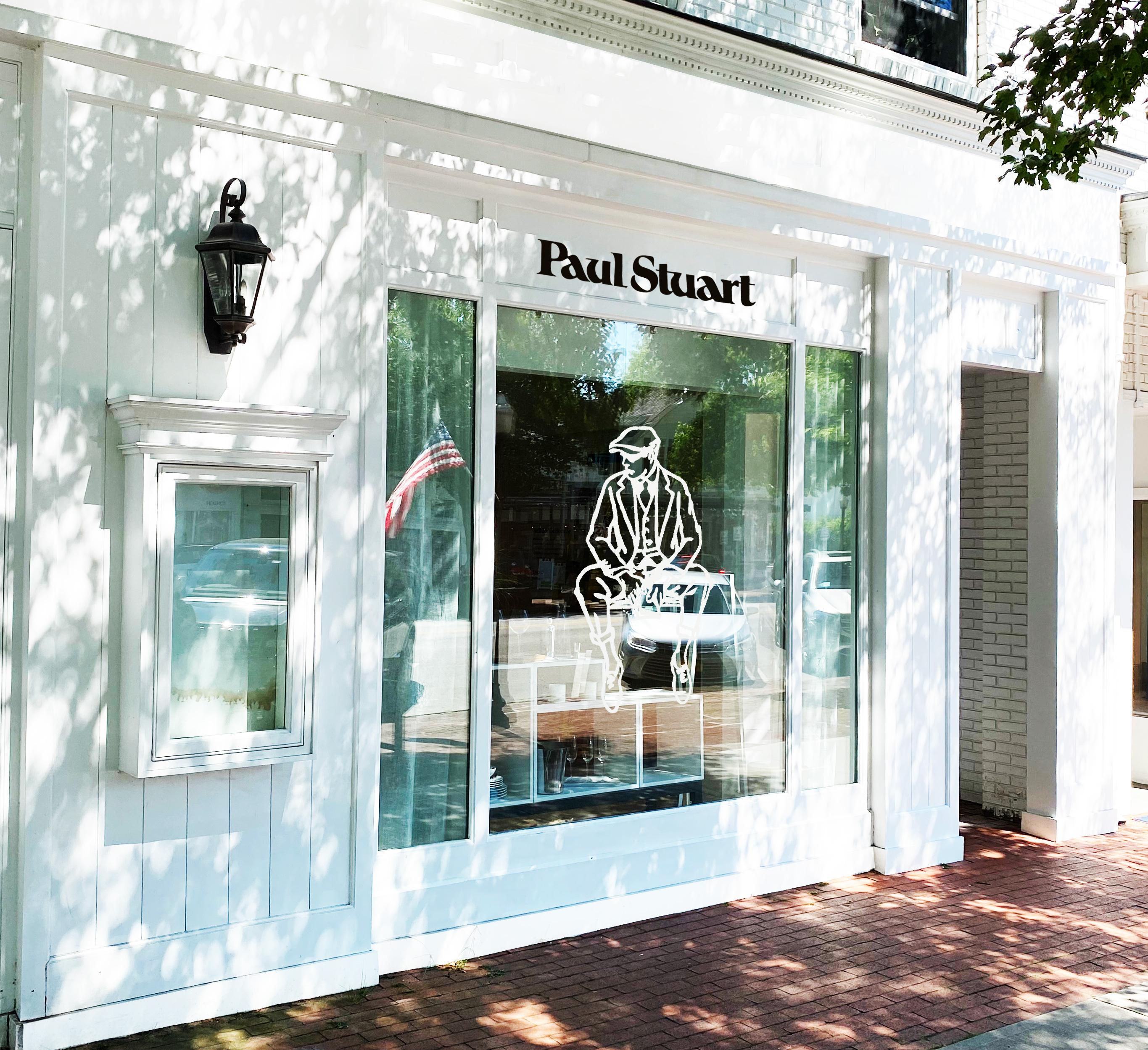 The Paul Stuart's pop-up store in the Hamptons.