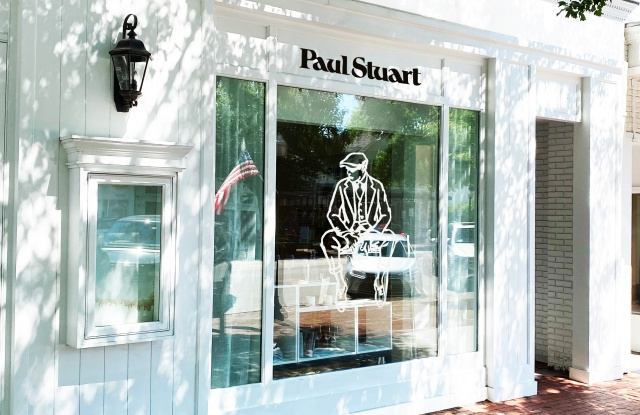 The Paul Stuart's pop-up store in the Hamptons.