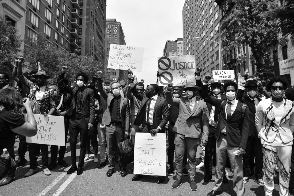 Peaceful Demonstration in Harlem, NY in memorial of George Floyd.