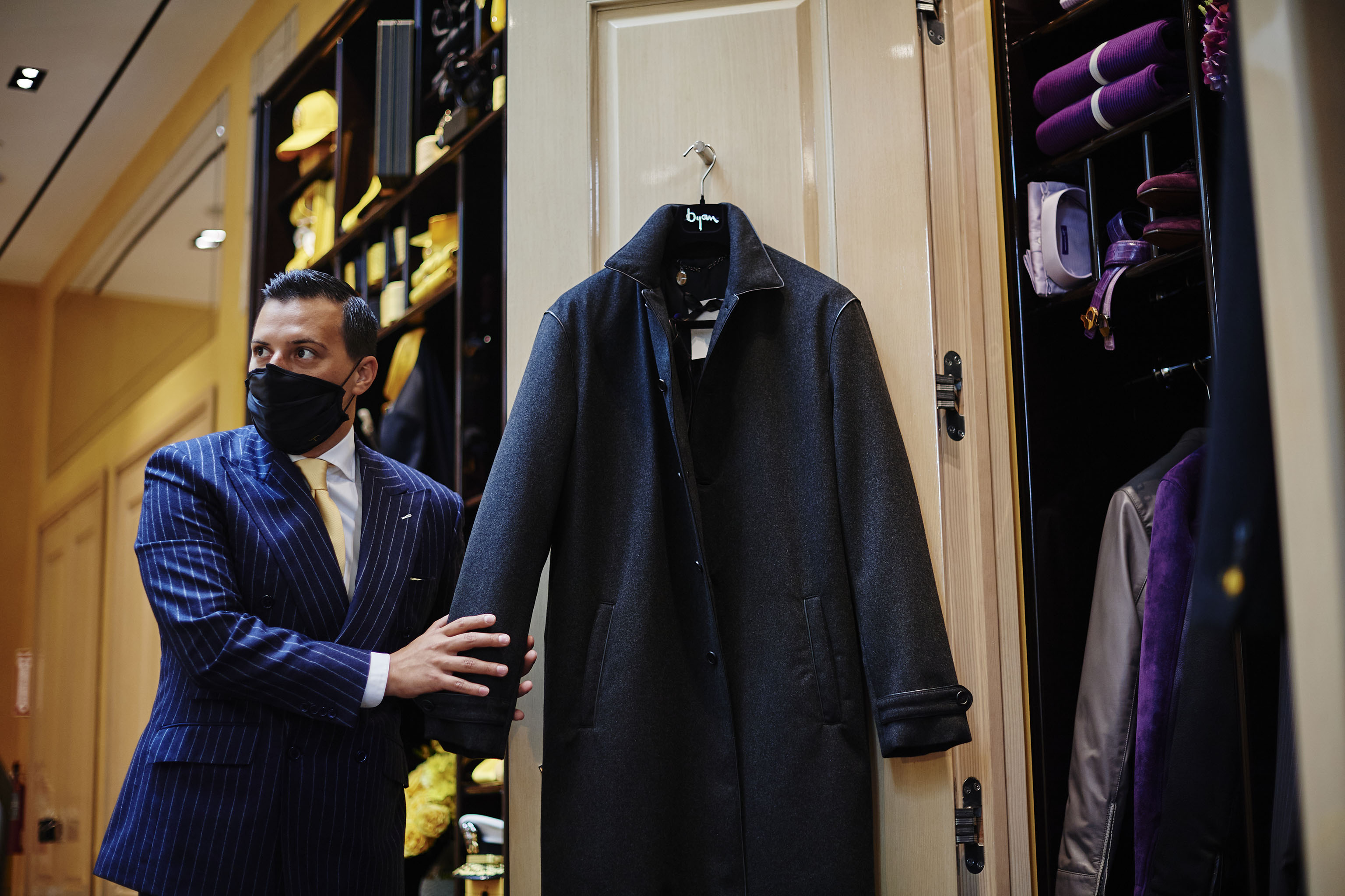 Nicolas Bijan at the House of Bijan store on Rodeo Drive.