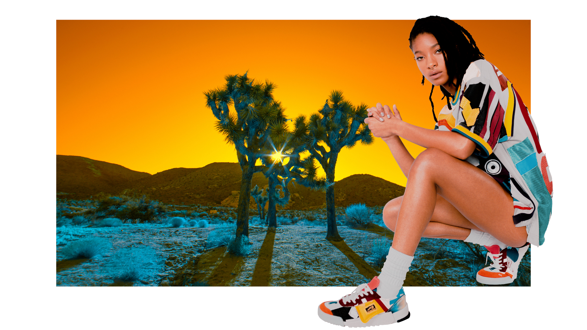 Willow Smith in Onitsuka Tiger.