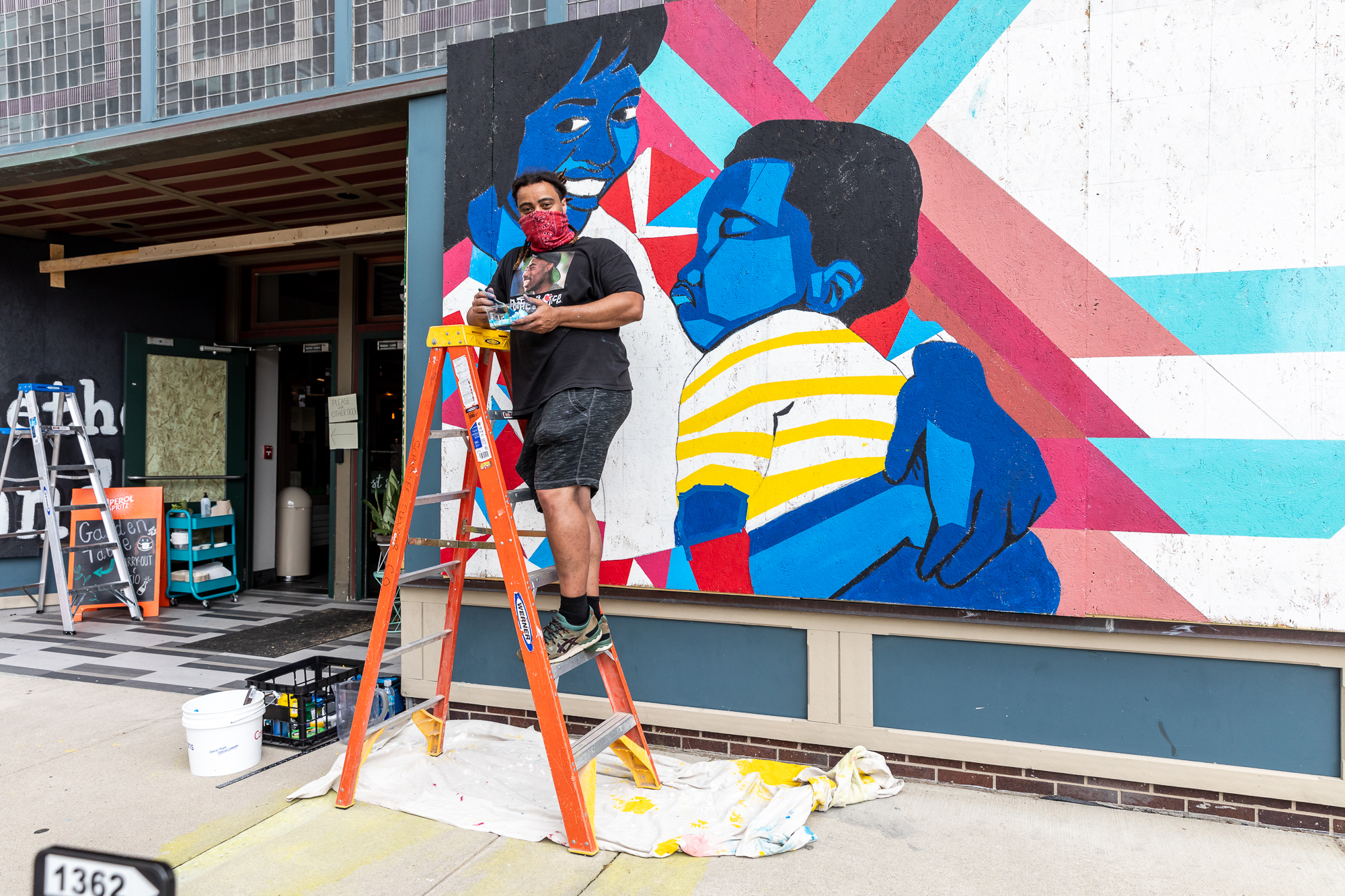 Artists in Indianapolis have recorded audio interviews to accompany their work.