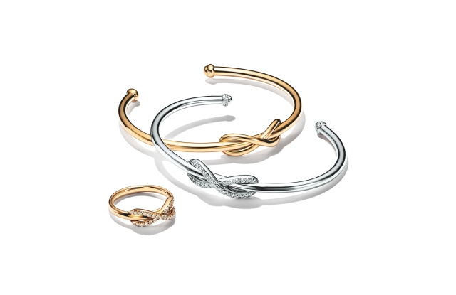 Styles from Tiffany & Co's Infinity collection.