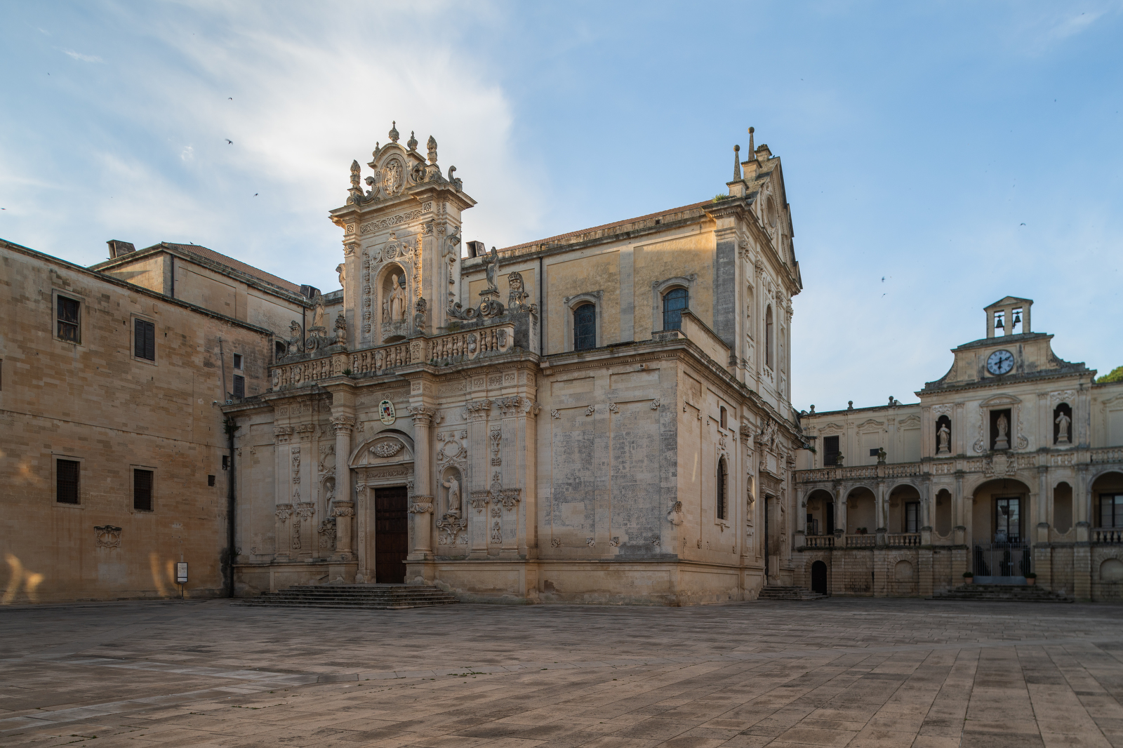 The Italian town of Lecce.