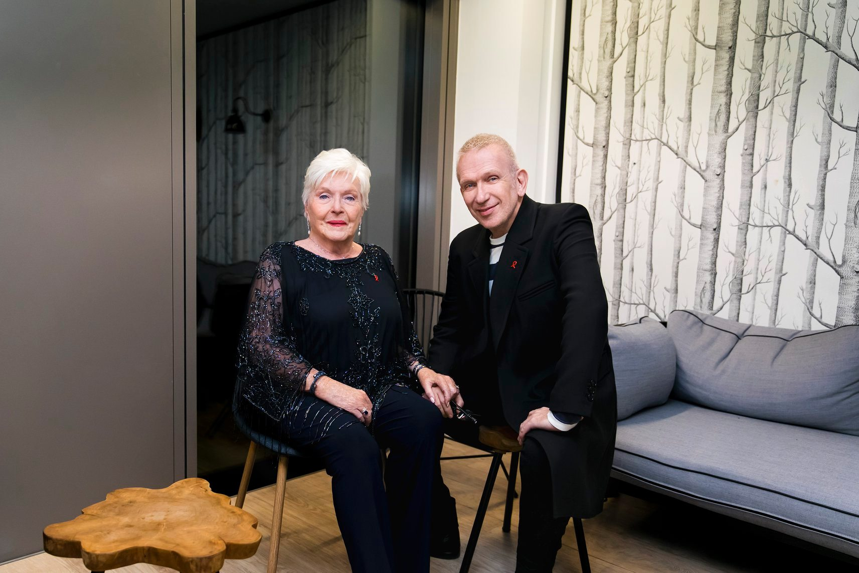 Line Renaud and Jean-Paul Gaultier