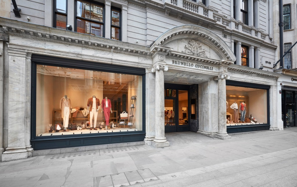 Brunello Cucinelli new store on London's New Bond Street