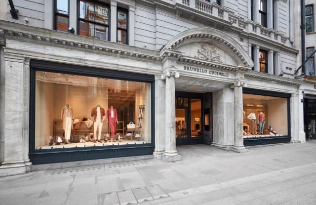Brunello Cucinelli new store on London's New Bond Street
