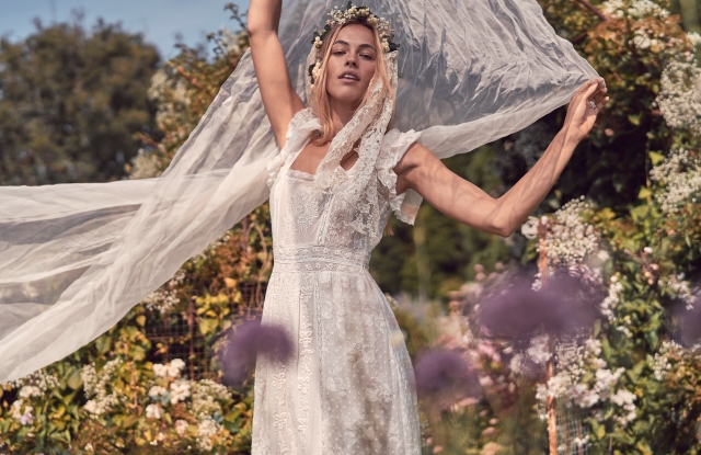 A look from LoveShackFancy's bridal collection.