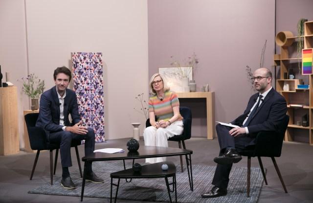 Antoine Arnault, Chantal Gaemperle and Sébastien Nouveau at the LVMH Inclusion Index Award.