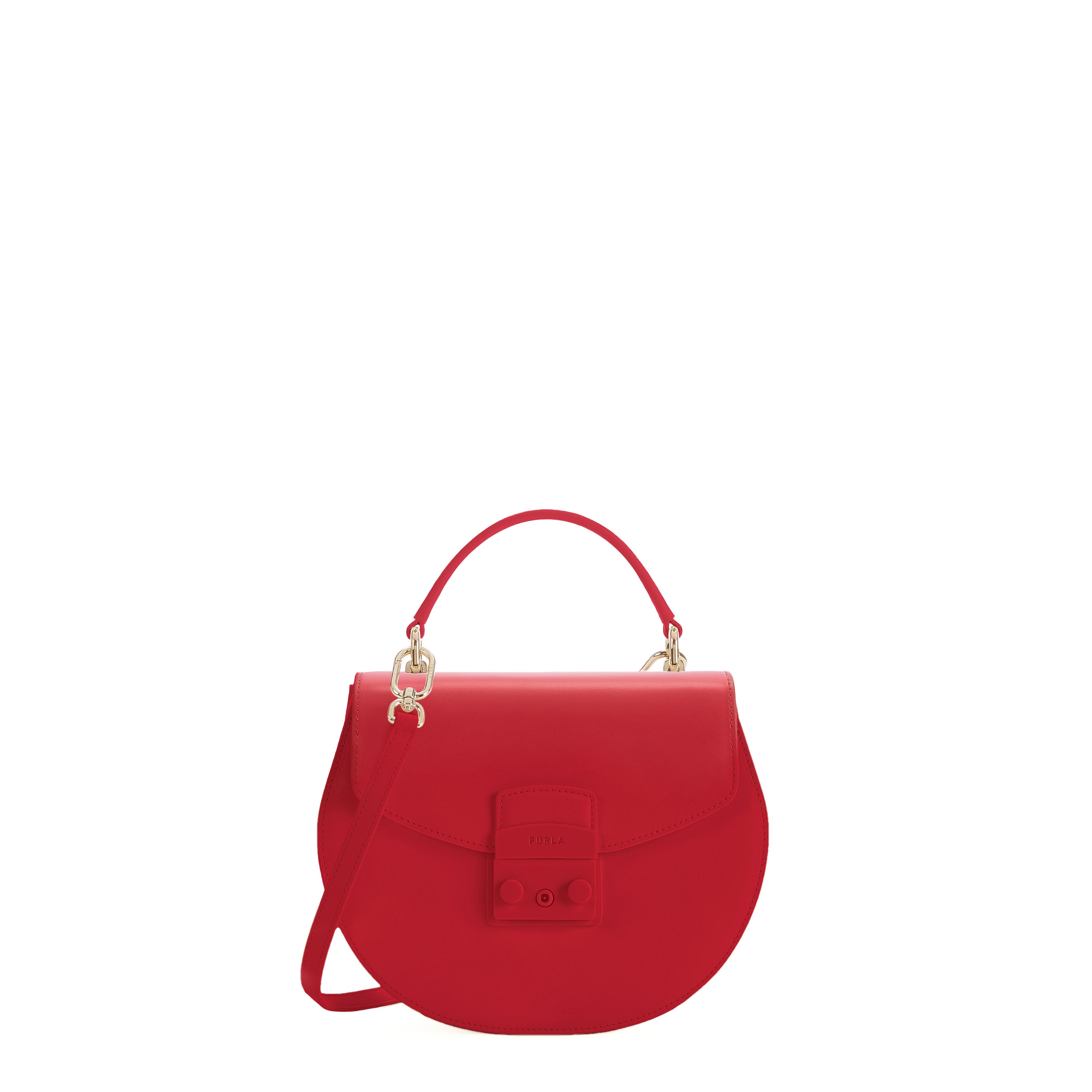 Furla's new rounded Metropolis handbag.