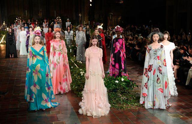 Models on the catwalkRodarte show, Runway, Fall Winter 2020, New York Fashion Week, USA - 11 Feb 2020