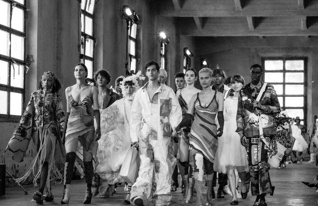 Polimoda's graduation fashion show in 2019.