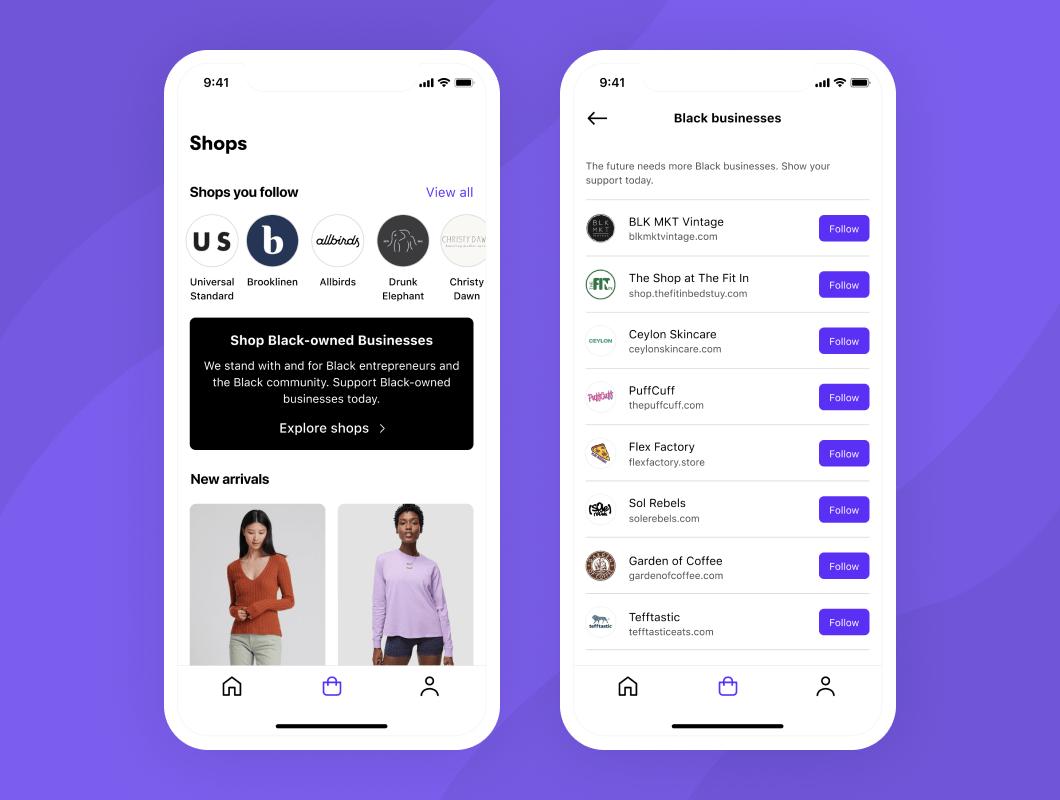Shopify's Shop app