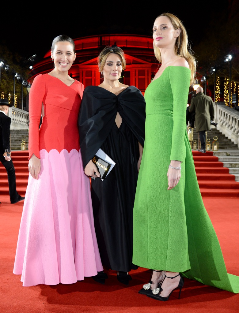 Emilia Wickstead, Narmina Marandi and Lauren Santo DomingoThe British Fashion Awards, VIP Arrivals, Royal Albert Hall, London, UK - 10 Dec 2018
