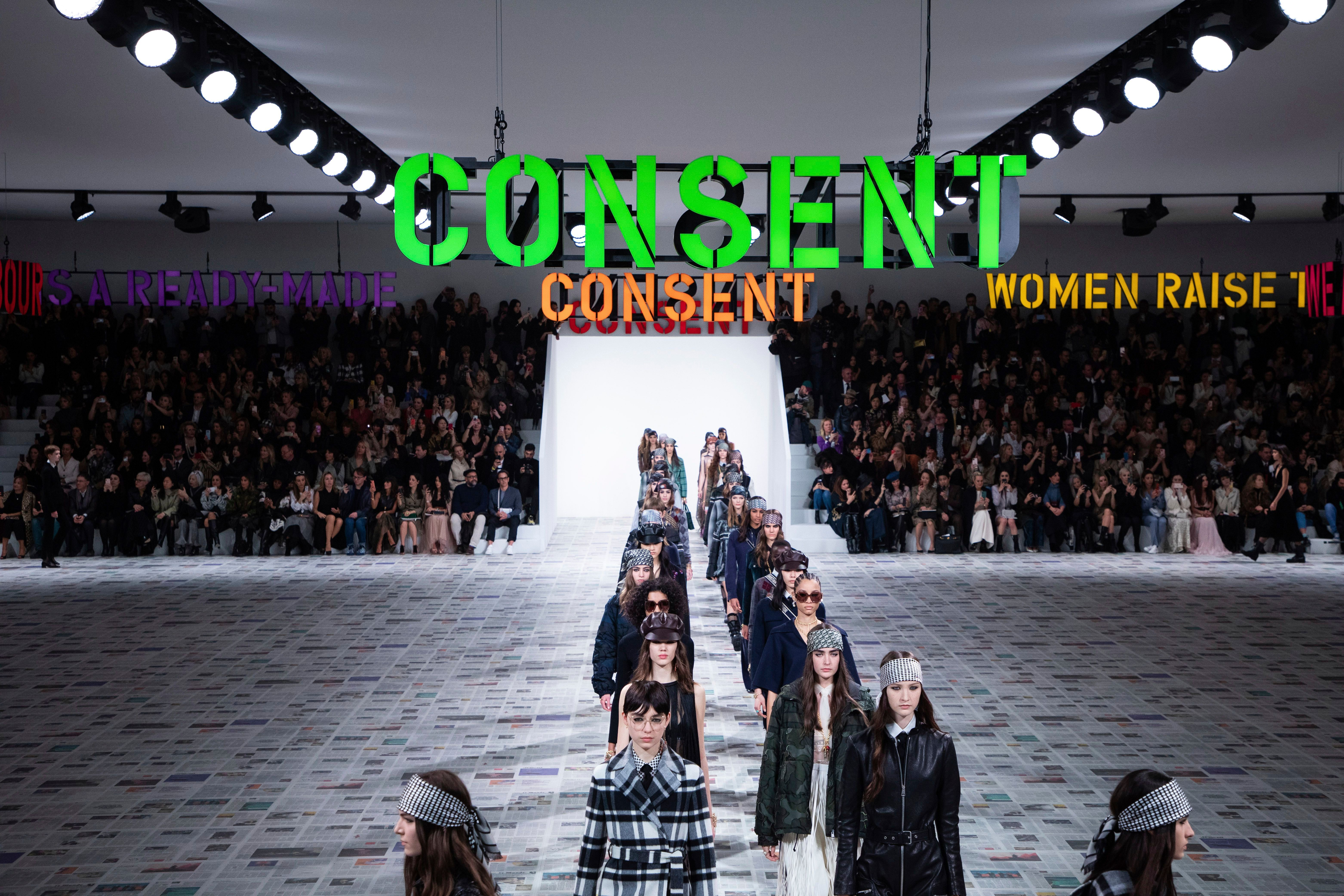 Models wear creations for the Dior fashion collection during Women's fashion week Fall/Winter 2020/21 presented in ParisFashion F/W 2020/21 Dior, Paris, France - 25 Feb 2020