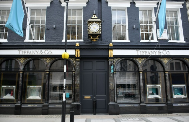 Tiffany & Co. store in london closed